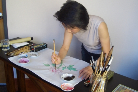 Learn brush painting with Pauline Tsui