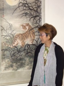 tiger painting Pauline Tsui