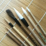 Chinese paint brushes