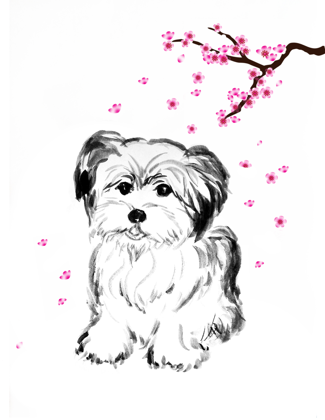 Pia-Dog-cherryblossom_1a