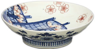 Cherry Blossom, Japanese porcelain dish