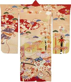 Japanese Furisode with floral motifs