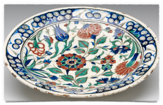 Plate withTulip and Rose motifs,Turkey