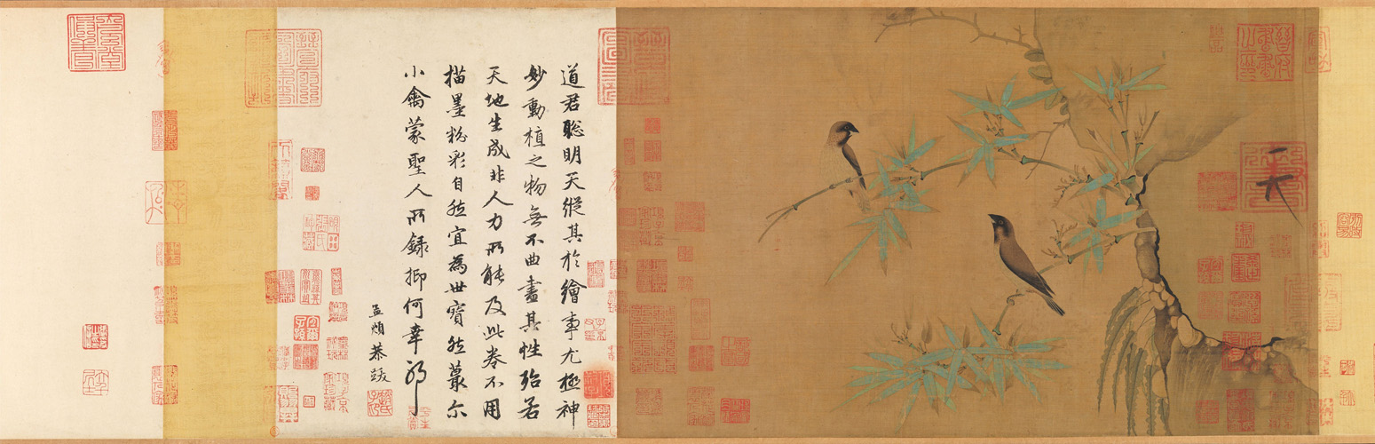 Finches and bamboo Huizong-ZhaoJi_Met