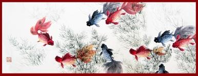 Nine Goldfish