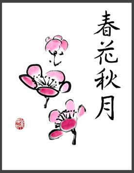 02B 春花秋月-plum blossoms