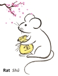 Rat with gold purse